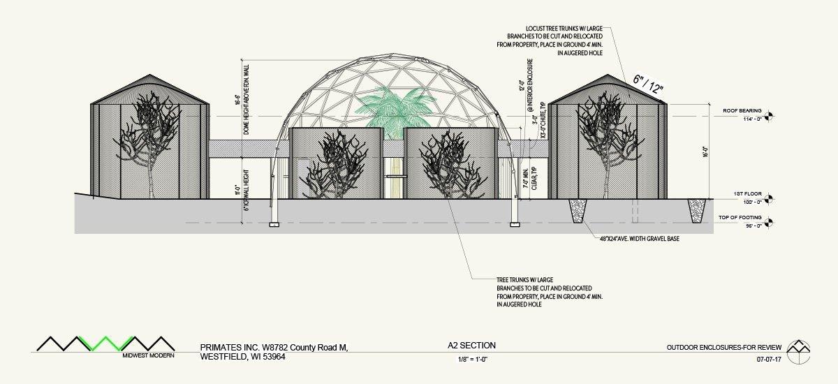 Midwest Modern rendering of Primate geo dome