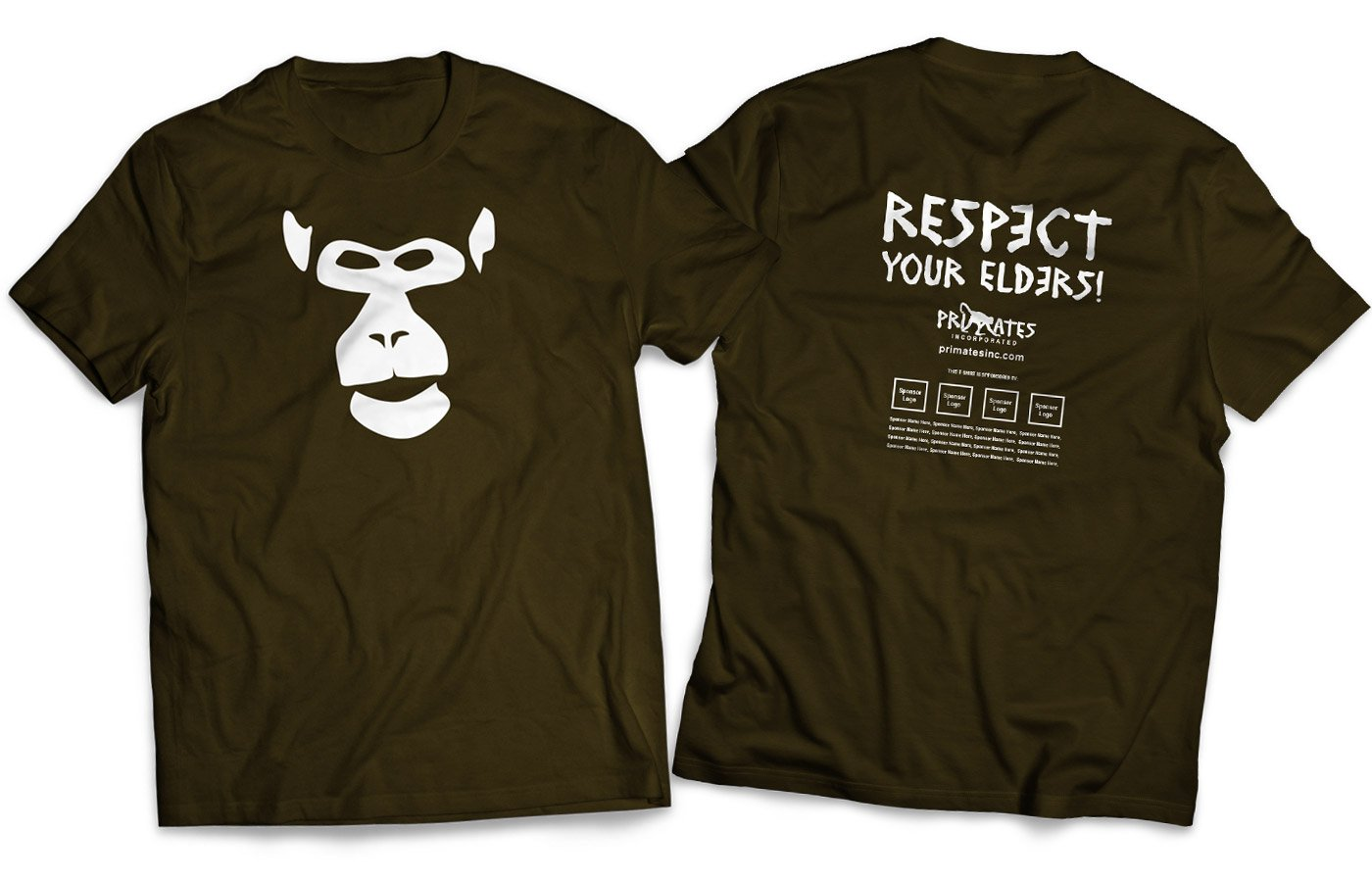 Primates Inc. Respect t-shirt design