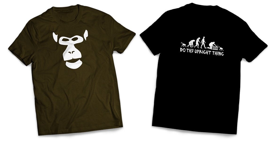 Primates Inc. t-shirt designs